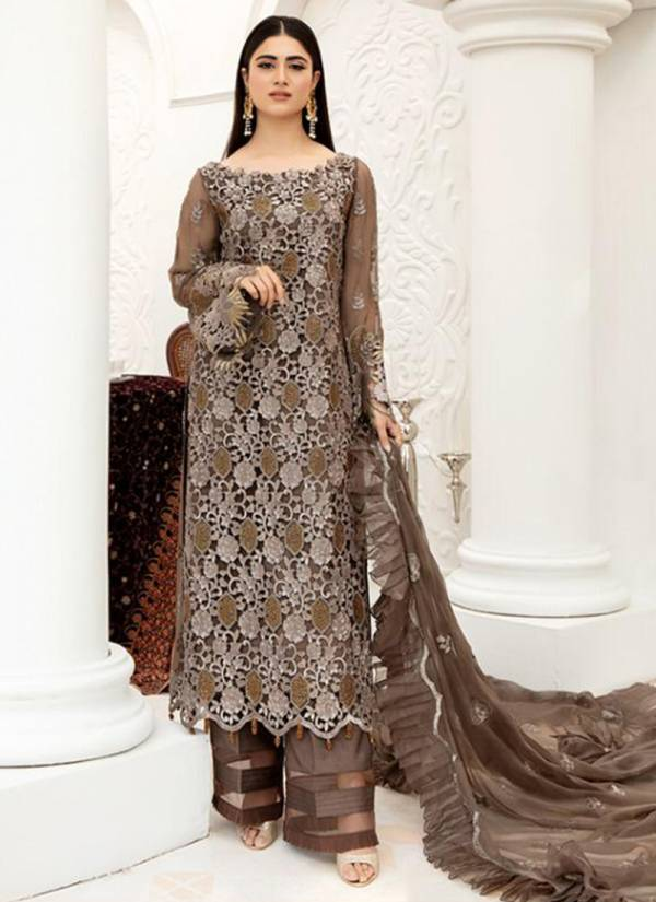 Cyra Fashion Sehrish Series 51001-51004 Net & Faux Georgette Heavy Embroidery Work Latest Designer Pakistani Suits Collection