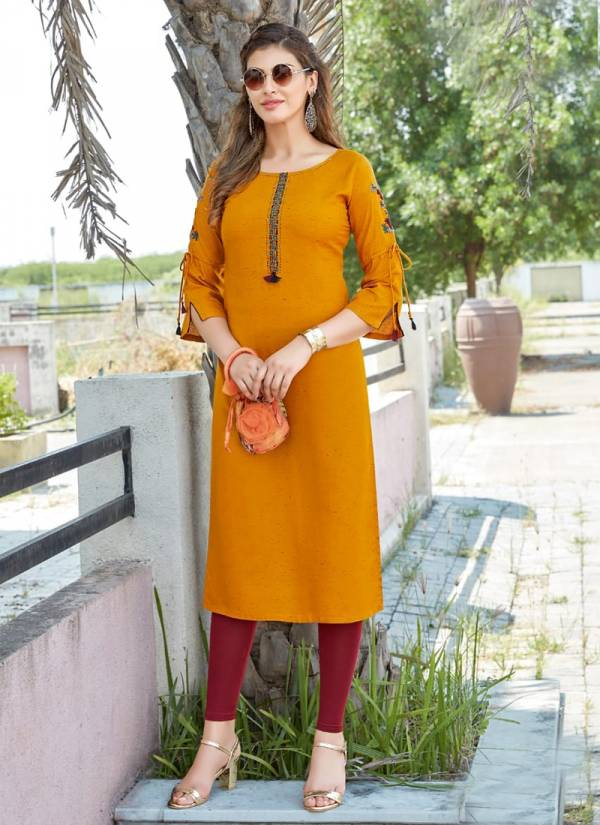 Mittoo Payal Vol 15 Series 234-239 Two Tone Viscose Rayon With Designer Work Stylish Look kurti Collection