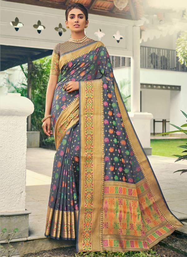 Sangam Vanshika Series V8001-V8006 Cotton Handloom Latest Designer Exclusive Festival Wear Sarees Collection