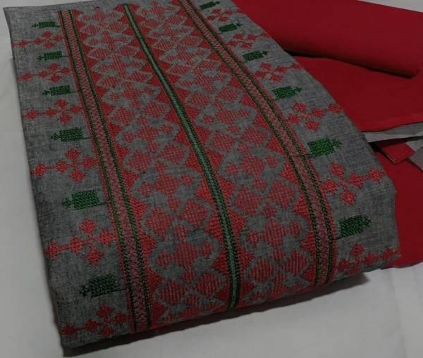 Bhairav Suits Slub Cotton Work Exclusive Dress Material Suits Collection