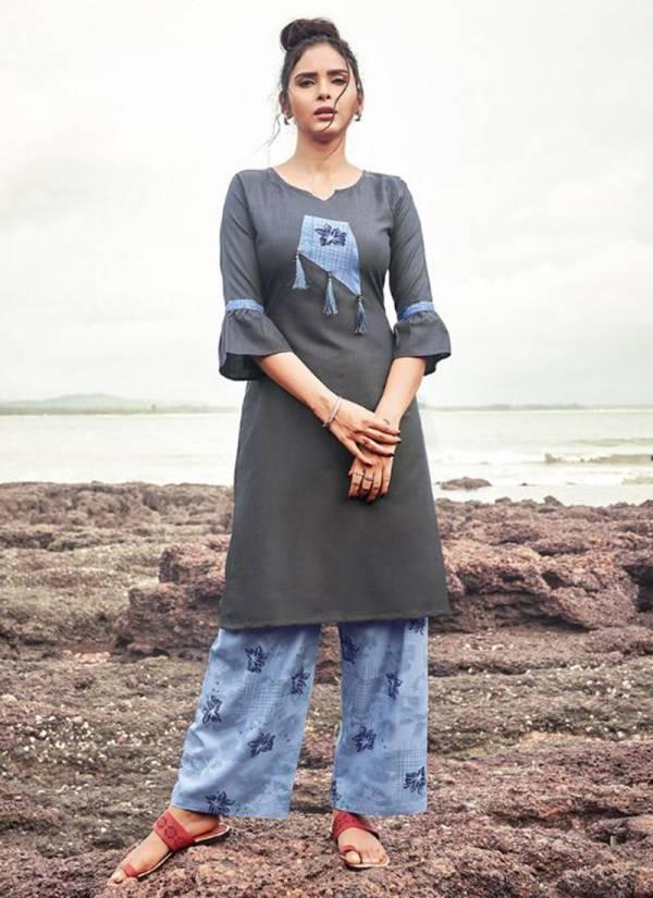 Nitisha NX Plazo Vol 6 Heavy Soft Cotton Slub With Fancy Printed Work Regular Wear Designer Kurti Palazzo Collection