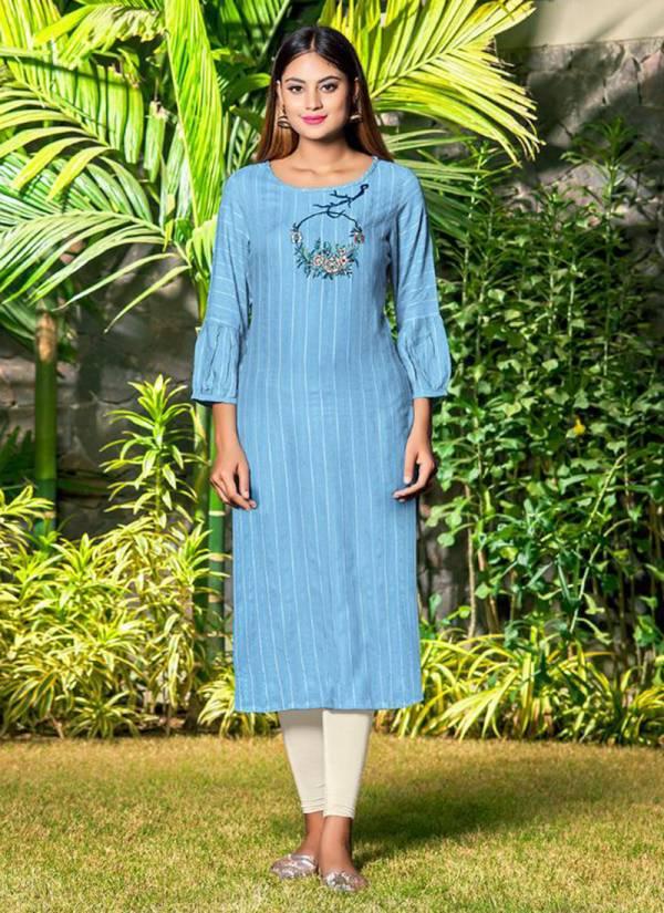 Nitisha Nx Vishwa 1001-1008 Heavy Soft Cotton Slub With Embroidery Work Daily Wear Kurti Collections