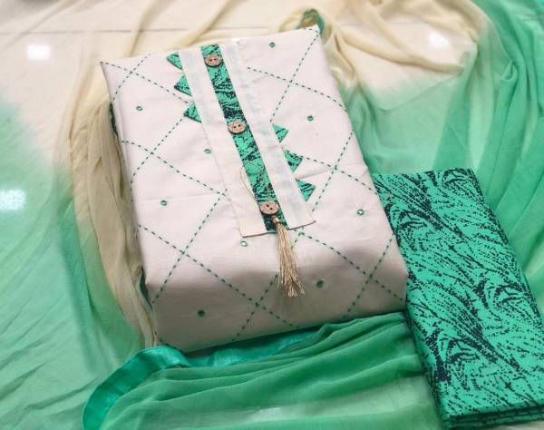 Pure Cotton Regular Designer Wear Dress Material Collection