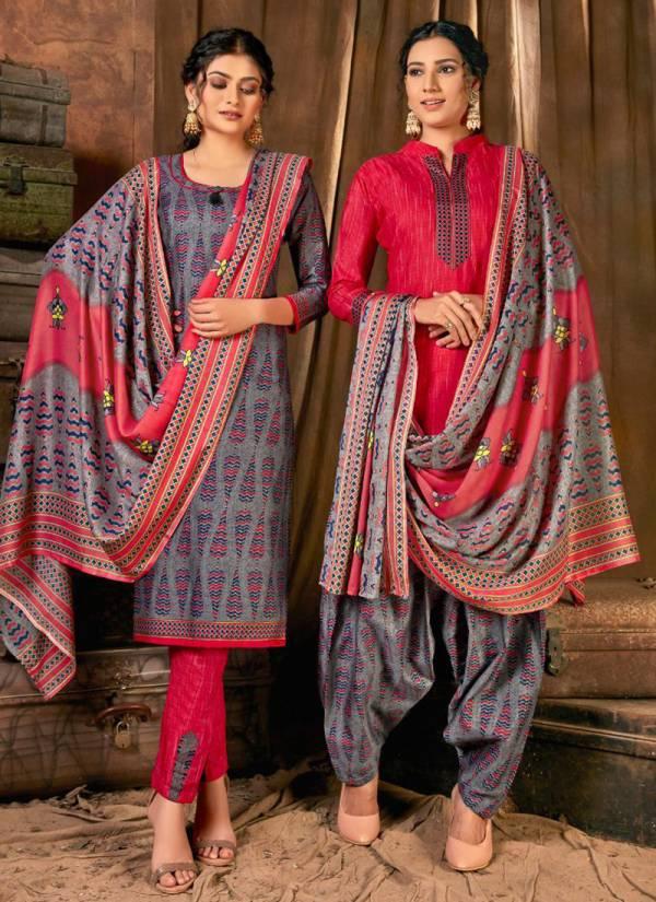 Shiv Gori Silk Milks Mills Laado Heavy Indonesia Cotton with Beautiful Gala Tie on Print Designer Salwar Suits Collection