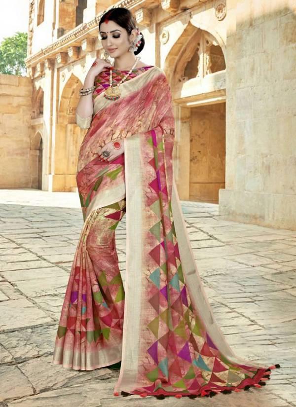 Vamika Fashion Vastram Series VASTRAM-02-VASTRAM-09 Rennial New Fancy Festival Wear Beautiful Printed Fancy Sarees Collection