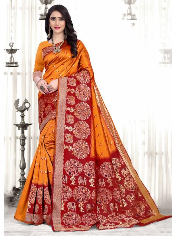 Kodas Saathiya Series 8378A-8378D Handloom Silk Latest Designer Festival Wear Gorgeous Sarees Collection