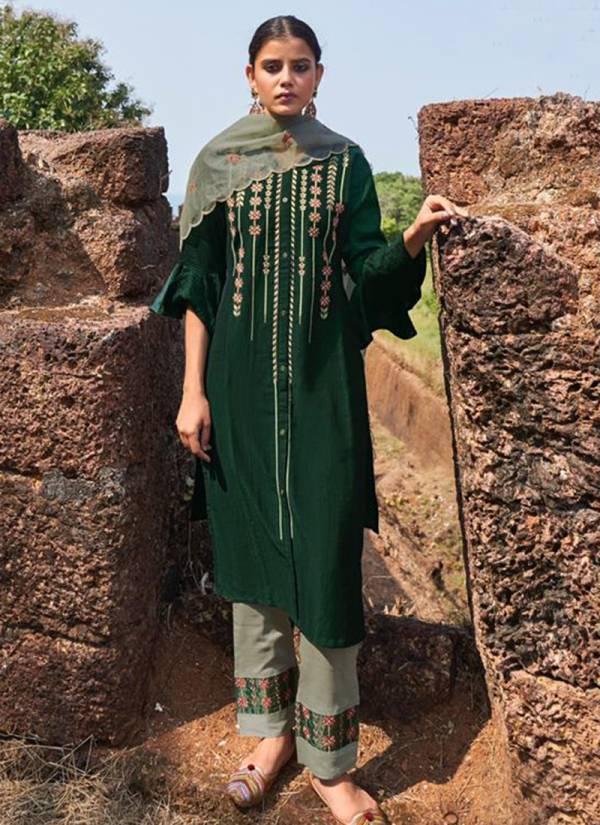 Kalki Fashion Inayat Series 63001-63006 Pure Viscose Silk Embroidery & Katha Work Latest Designer Readymade Salwar Suits Collection