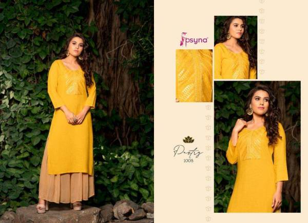 Psyna Pastry Rayon Embroidered Work  Festival Wear Designer Kurti Collection