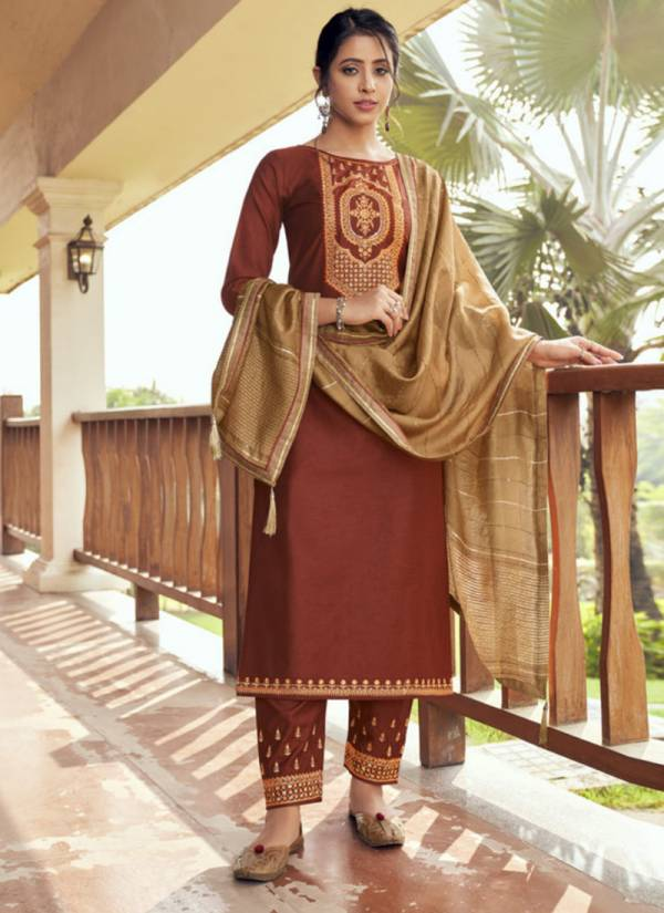KVS Vaani Series 2741-2744 Cotton Silk With Value Additional Work Latest Readymade Salwar Suits Collection