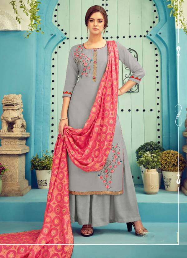 Alok Suit Aakar Series 492-001 - 492-008 New Designer Viscose Muslin With Fancy Embroidery Work & Additional Hand Khatli Work Salwar Suits Collection