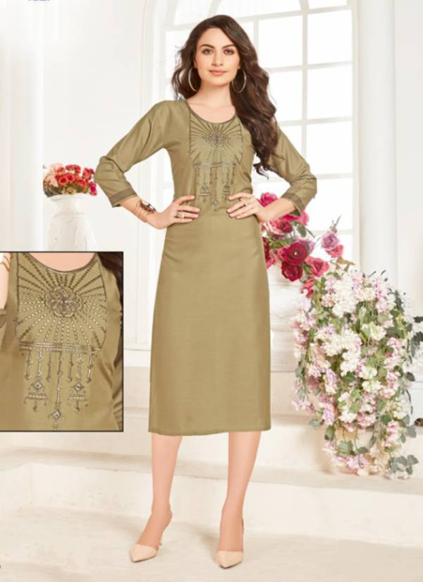 Aaliya Vol 1 Rayon With Hand Work Casual Wera Fancy Kurti Collection 1001-1008