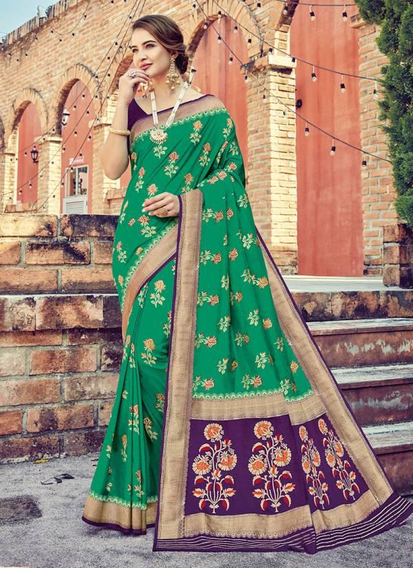 Takshaya Aaloki Series 1001-1006 Silk With Weaving Work Latest Sarees Collection