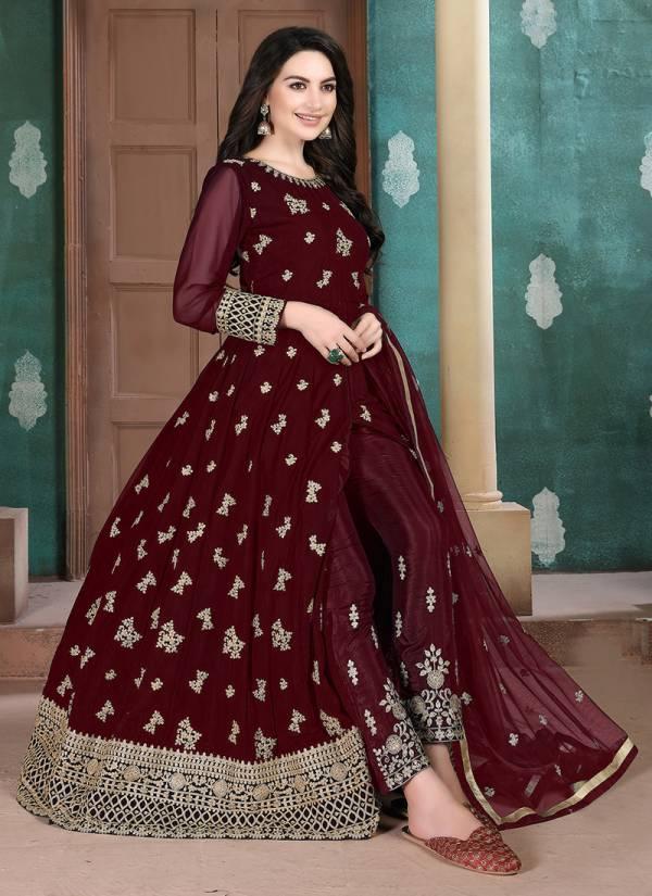 Dani Creation Aanaya Vol 110 Series 1001-1004 Faux Georgette Reception Wear Anarkali Suits Collection