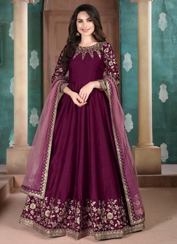 Dani Creation Aanaya Vol 111 Series 1101-1104 Adda Silk Fancy Look Party Wear Anarkali Suits Collection