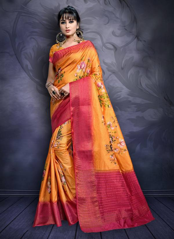Aarvi Vol 1 Nylon Digital Print Women's Fancy Sarees Collection 1001-1008