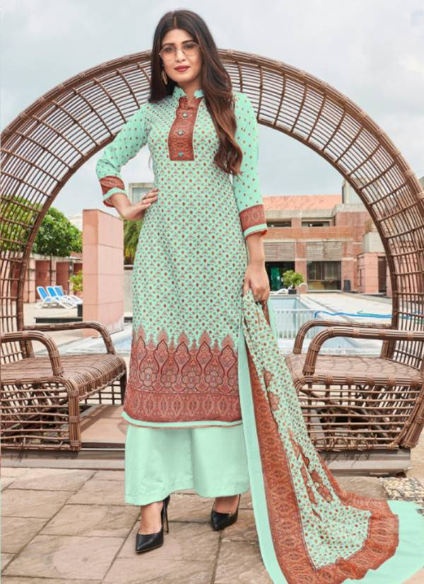 Bipson Aashi Series 1025-1027 Woollen Pashmina Digital Print Office Wear Suits Collection