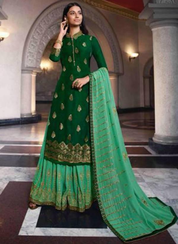 Glossy Simar Aasma Series 054-061 Pure Dola Jacquard With Swarivski Daimond Work Wedding Wear Salwar Suits Collection