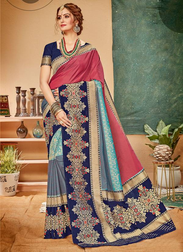 Takshaya Adaa Series 01A-06F Fancy Silk With Weving Work Party Wear Sarees Collection