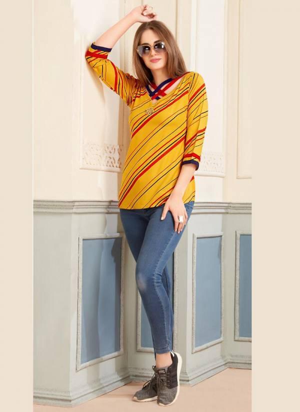 Aliksha Ador Vol 3 Series 3001-3010 Rayon Fancy Ladies Top Collection