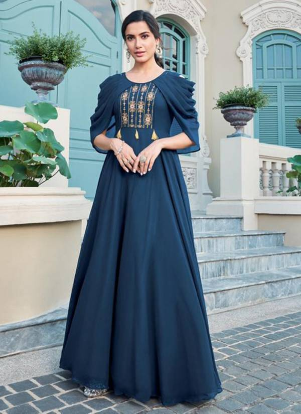 Almirah Vol 2 Heavy Faux Georgette With Heavy Embroidery Work Stylish Kurti Collection 1901-1908
