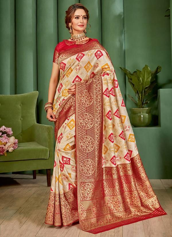 Takshaya Amaaira Series A-D Latest New Fancy Woven Silk Reception Wear Sarees Collection