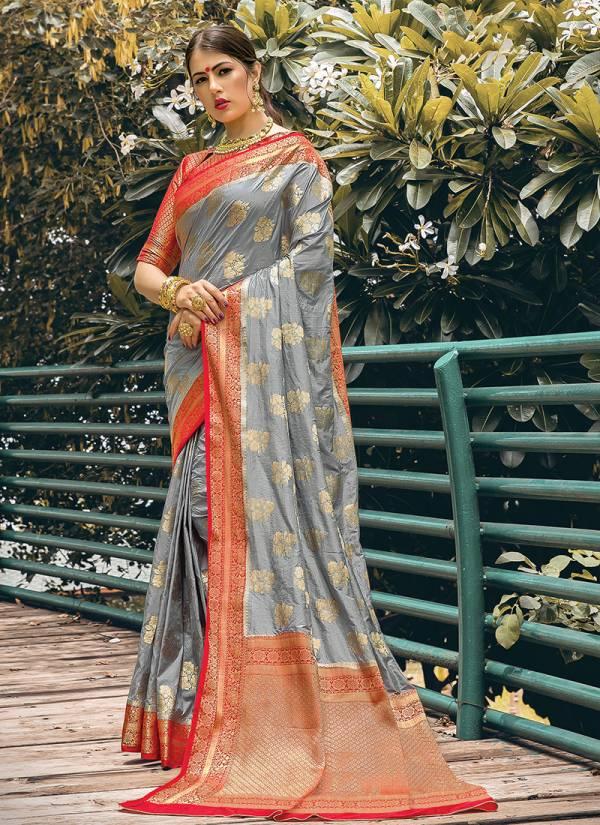Sangam Amber Silk Series 1001-1006 Festival Wear Nylon Silk Sarees Collection