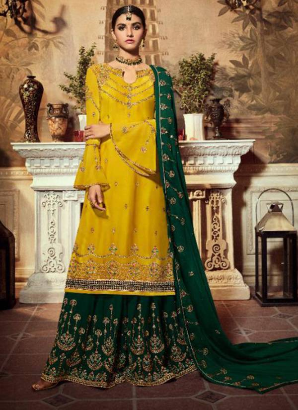 Vivek Ameen 6 Series 12401-12406 Satin Georgette With Embroidery Work wedding Wear Suits Collection