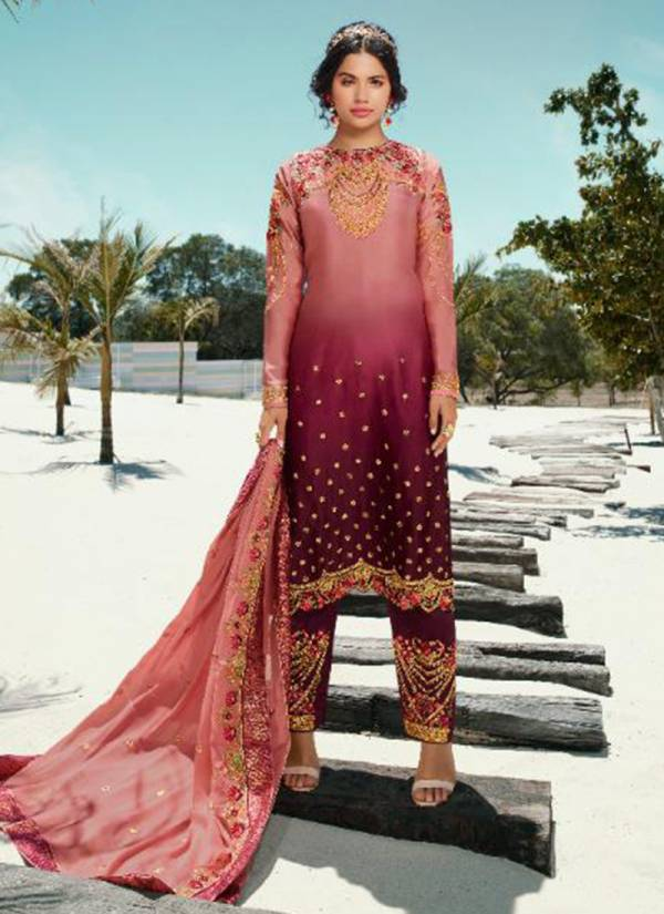 Amirah Vol 3 Series 14012-14018 Fantastic Stain Georgette With Heavy Duppta Embroidery Work Reception Wear Salwar Suit Collection