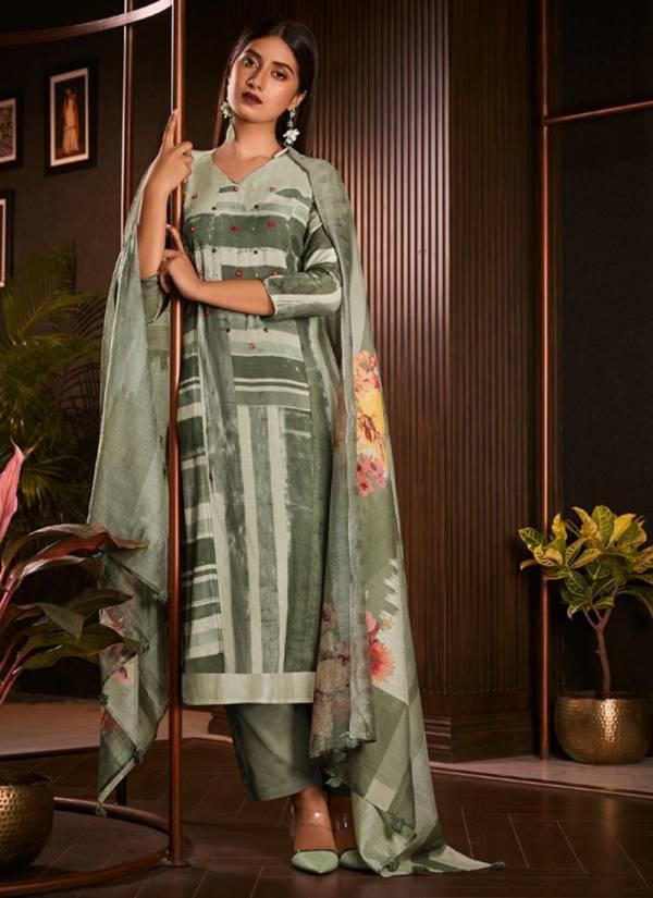 Jay Vijay Amorous Vol 2 Series 5241-5250 Pure Moga Silk Digital Print With Hand Work Stylish Suits Collection