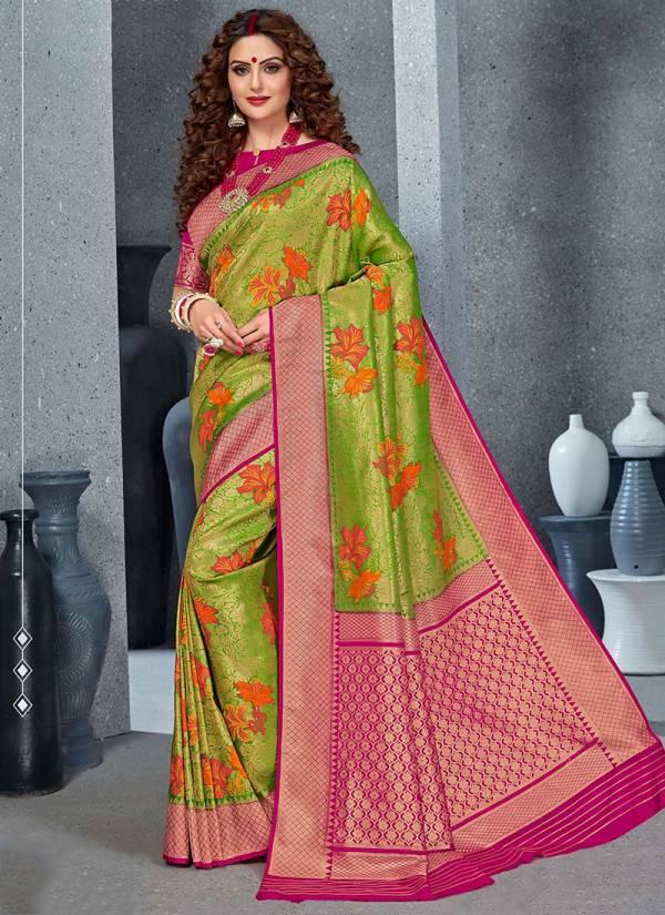 Takshaya Amouli Series 2001-2006 Exclusive Woven Brocade Silk Wedding wear Sarees Collection