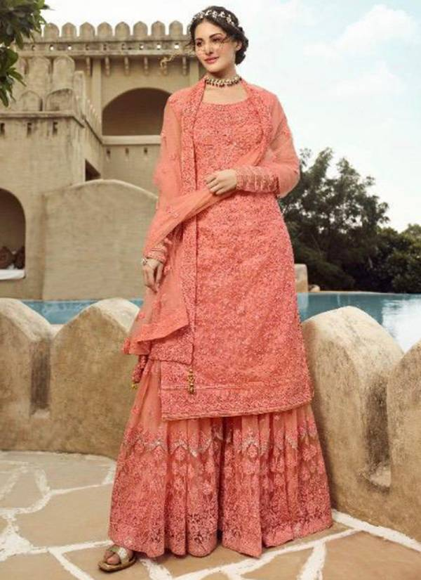 Glossy Simar Amyra Shaivi Series 15030-15035 Net Embroidery Work With Swarovski Work Wedding Wear Exclusive Suits Collection