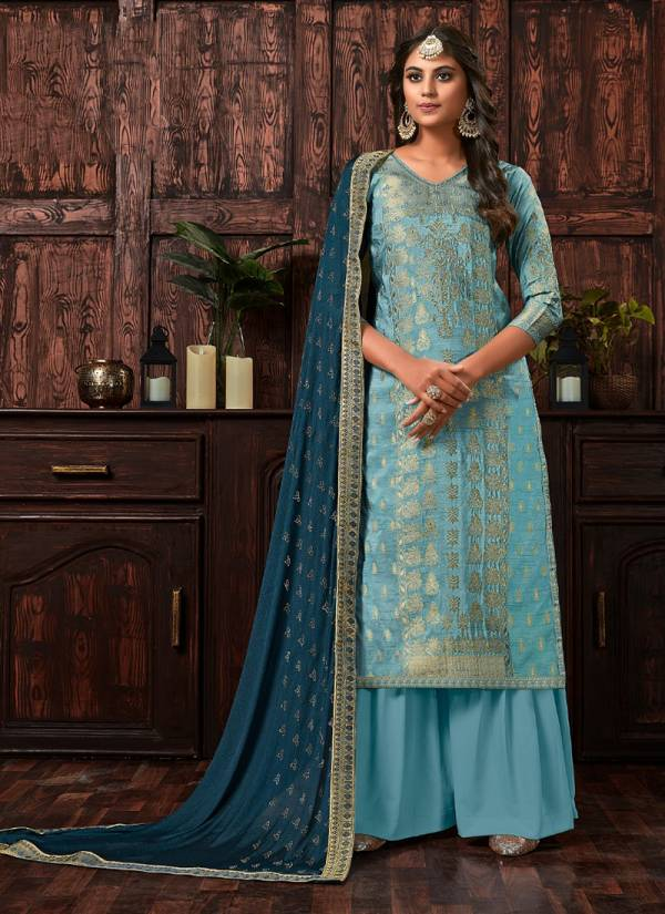 Anaya Pure Dola Viscose Jacquard With Swaroski Daimond Work Top, Santoon Bottom With Chinon Silk Swaroski Daimond Work Dupatta Suits Collection 1001-1008