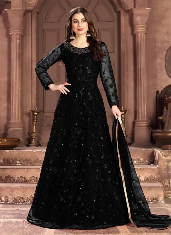 Dani Anaya Vol 100 Series 100005-100008 Heavy Net With Heavy Thread & Sequence Work Anarkali Suit Wedding Wear Collection