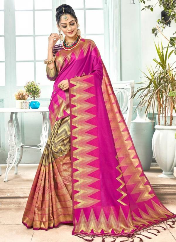 Angaari Banarasi Art Silk Stylish Look Sarees Collection 29206-29211