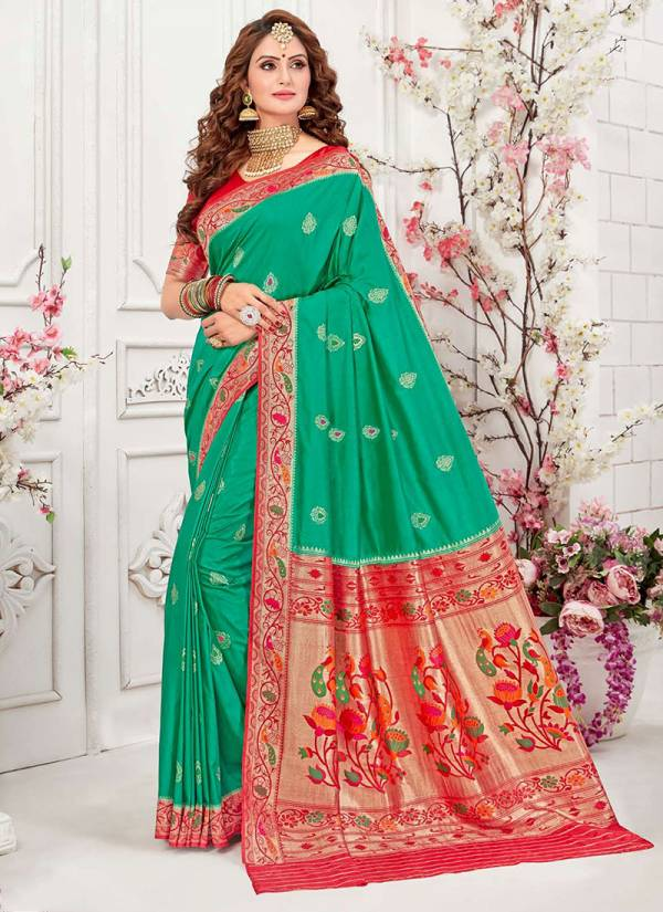 Takshaya Anika Series A-F Woven Silk New Designer Festival Wear Sarees Collection