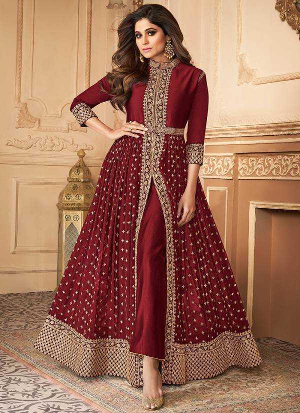 Aashirwad Anokhi Series 7152-7152 D Real Georgette With Dull Santoon Inner Wedding Wear Anarkali Suits Collection