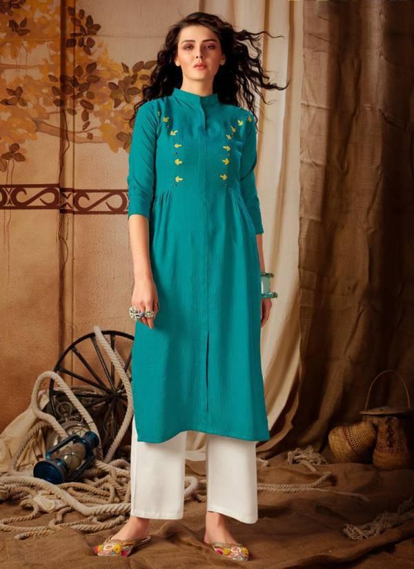 Riya Designer Anokhi Vol 2 Series 1001-1005 Heavy Premium Rayon Stich With Hand Work Kurti And Palazzo Collection