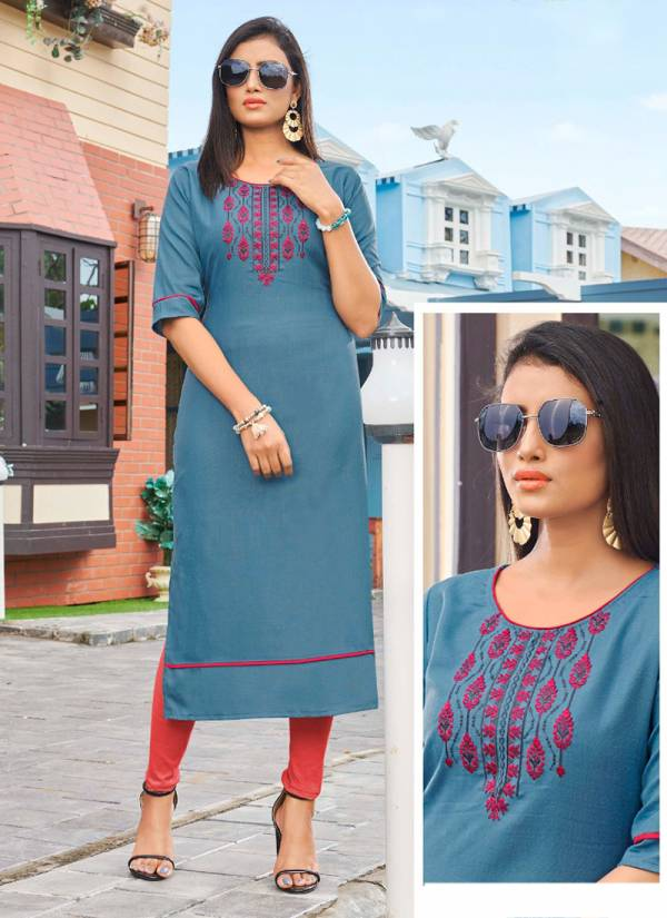 Kanika Anuroop Vol 3 Series AR-19 - AR-28 Rubby Silk With Embroidery Work Lalest Kurti Collection