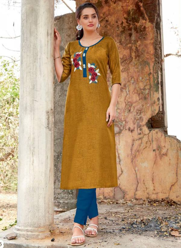 Jinesh NX Aroma Vol 1 Series 4001-4010 Latest Rayon Two Tone With Hand Work Party Wear Kurti Collection