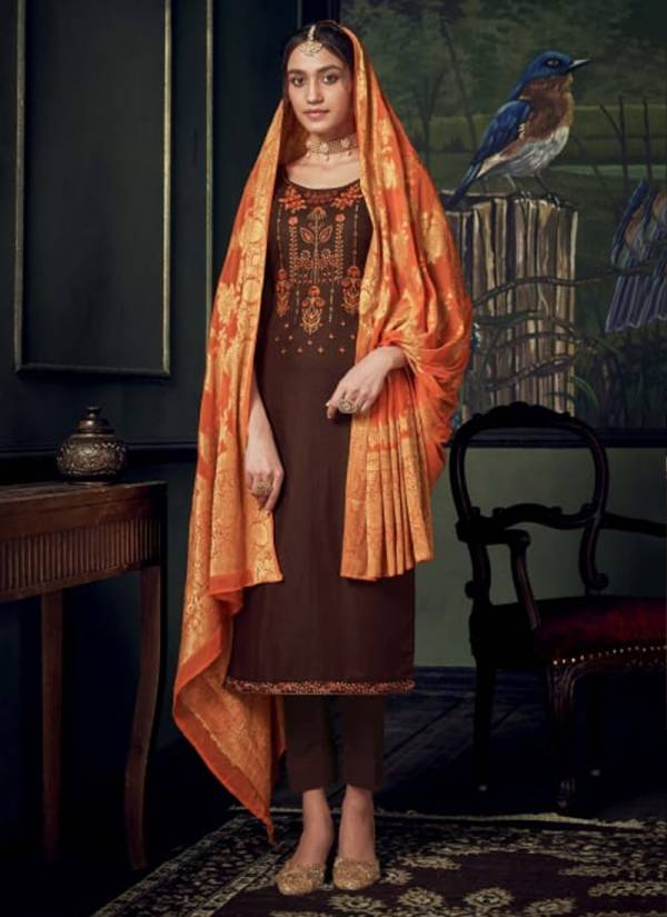 Belliza Designer Banarasi Series 623 001-623 006 Pure Heavy Jam Silk With Exclusive Embroidery Work With Lace Work Festival Wear Suits Collection