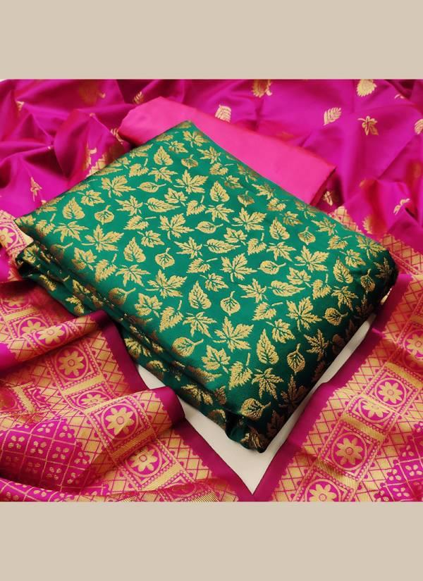 Textile Catalog Banarasi Suits Series 8-12 Banarasi Silk Designer Festival Wear Dress Material Suits Collection