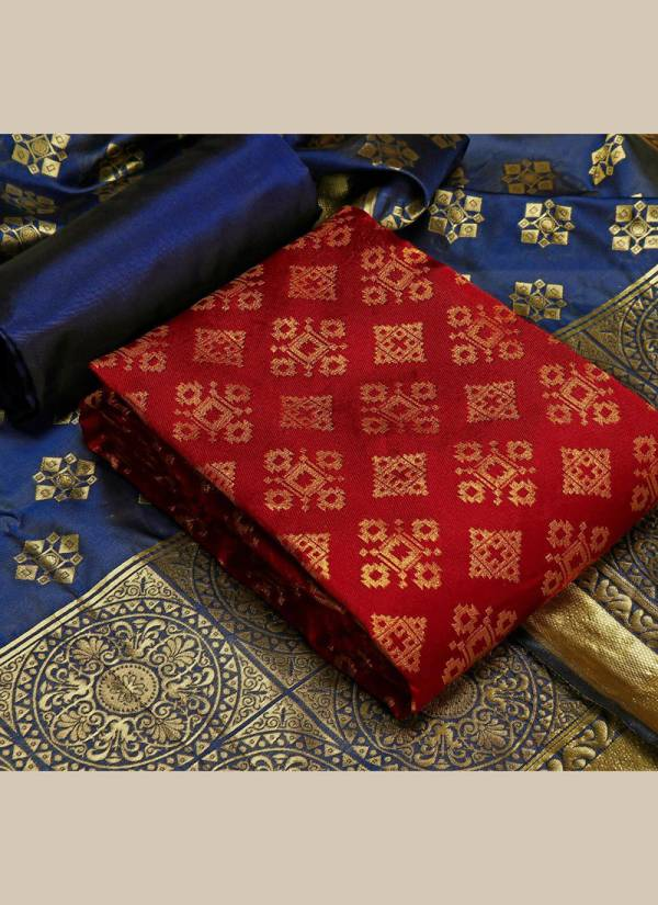 Textile Ctalog Banarasi Suits Series 1D-5D New Festival Wear Banarasi Silk Dress Material Suits Collection