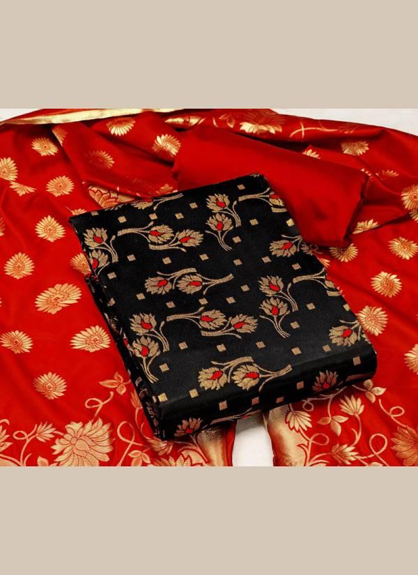 Textile Ctalog Banarasi Suits Series 1B-6B Banarasi Silk Dress Material Suits Collection