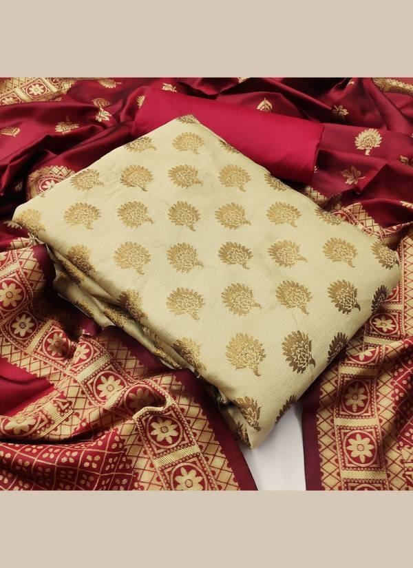 Textile Ctalog Banarasi Suits Series 1A-4A Banarasi Silk Festival Wear Dress Material Suits Collection