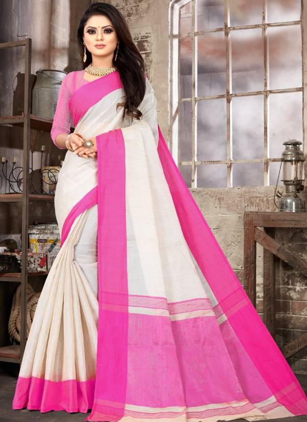 Kodas Bangla Series 2074 A/E Poly Cotton Weaving Handloom Work Sarees Collection