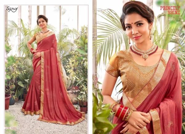 Saroj Bansuri Seires 510001-510008 Vichitra Silk With Swarovski Butta Festival Wear Sarees Collection