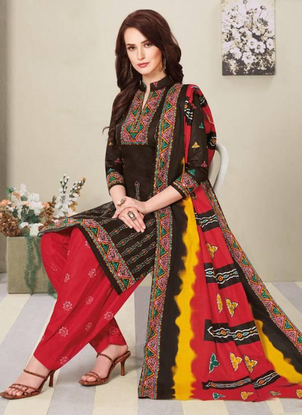 Balaji Battik Vol 4 Series 4001-4012 Cotton Latest Regular Wear Suits Collection