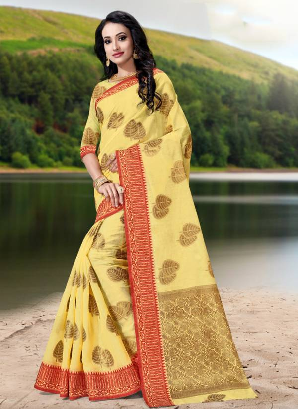 Benzer 1193 Soft Cotton Weaving Designer Classy Look Sarees Collection 1193A-1193D