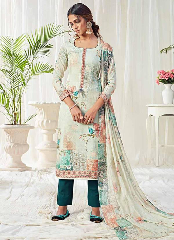 Alizeh Bliss Series 10003-10010 Digital Printed Cotton Casual Wear Palazzo Suits Collection
