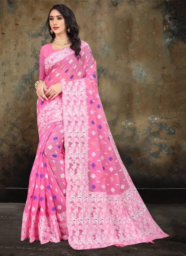 Kodas Bomkai Series 8088 A-F Festival Wear New Design Poly Cotton Weaving Sarees Collection